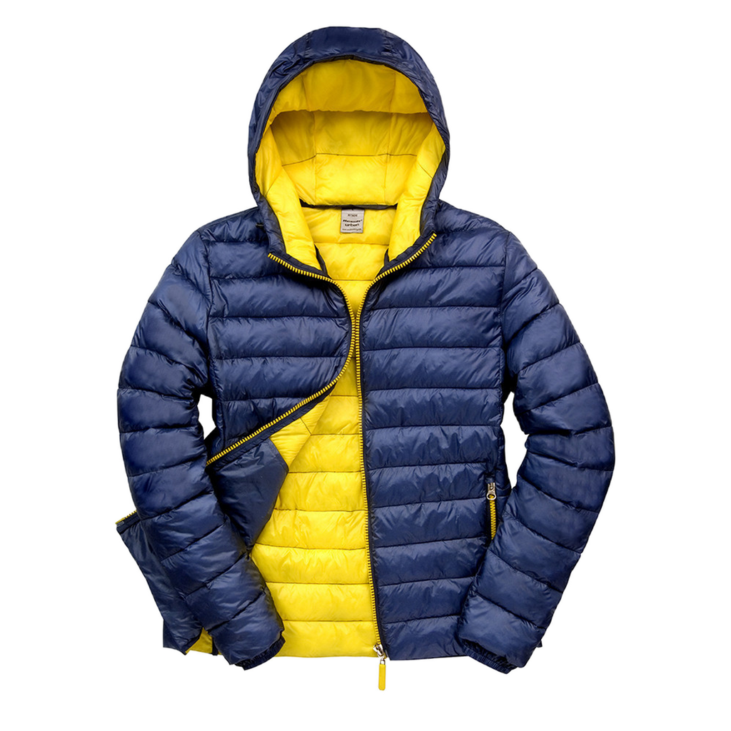 Womens Snowbird Hooded Jacket, Colours: Navy / Yellow