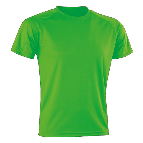Kids Spiro Impact Tee, Colour: Fluro Green