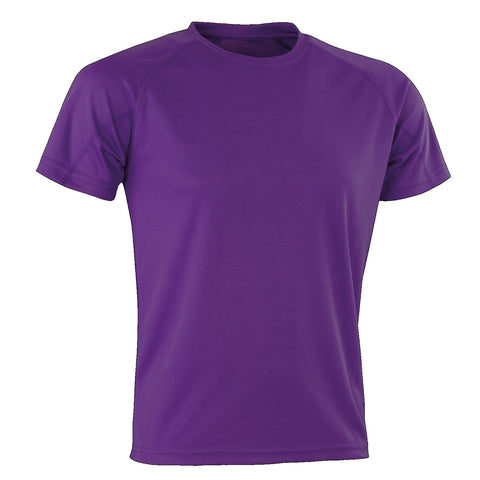 Kids Spiro Impact Tee, Colour: Purple