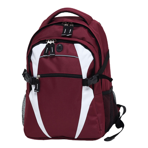 Image of Spliced Zenith Backpack - Colours Maroon / White
