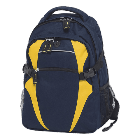 Image of Spliced Zenith Backpack - Colours Navy / Gold