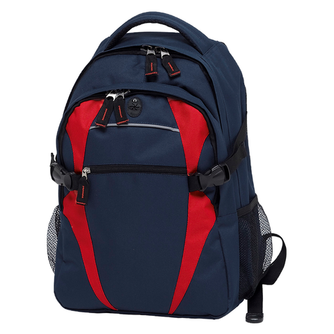 Image of Spliced Zenith Backpack - Colours Navy / Red