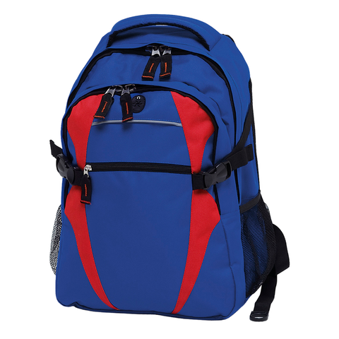 Image of Spliced Zenith Backpack - Colours Royal / Red