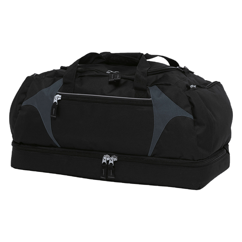 Spliced Zenith Sports Bag - Colours Black / Charcoal