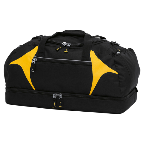Spliced Zenith Sports Bag - Colours Black / Gold