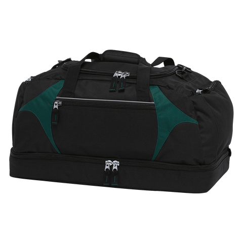 Image of Spliced Zenith Sports Bag - Colours Black / Green