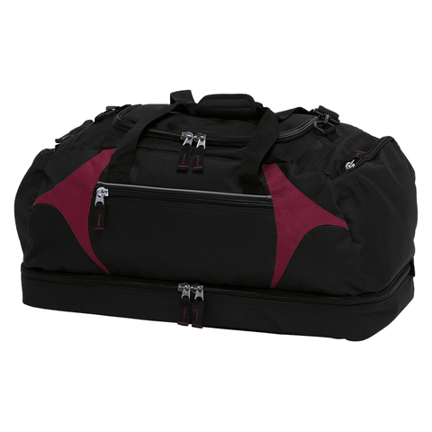 Spliced Zenith Sports Bag - Colours Black / Maroon