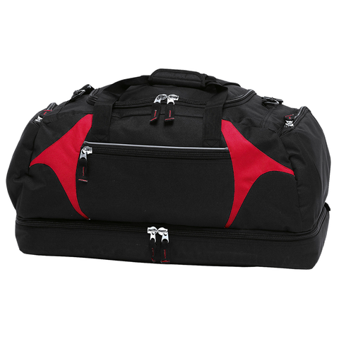 Spliced Zenith Sports Bag - Colours Black / Red