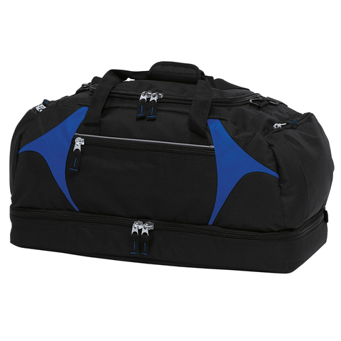 Image of Spliced Zenith Sports Bag - Colours Black / Royal