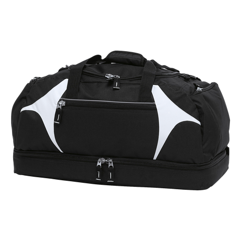 Image of Spliced Zenith Sports Bag - Colours Black / White