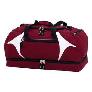 Spliced Zenith Sports Bag, Colours: Maroon / White