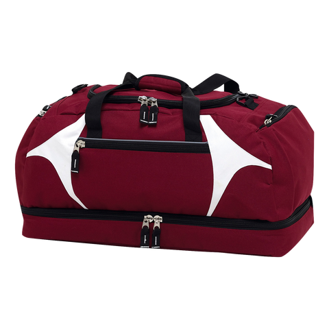 Spliced Zenith Sports Bag - Colours Maroon / White
