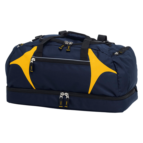 Spliced Zenith Sports Bag - Colours Navy / Gold