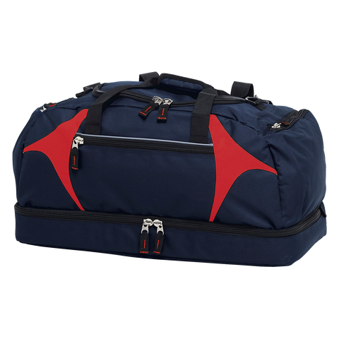 Spliced Zenith Sports Bag - Colours Navy / Red