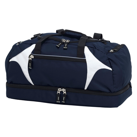 Spliced Zenith Sports Bag - Colours Navy / White