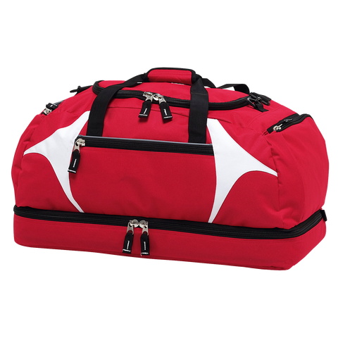 Spliced Zenith Sports Bag - Colours Red / White