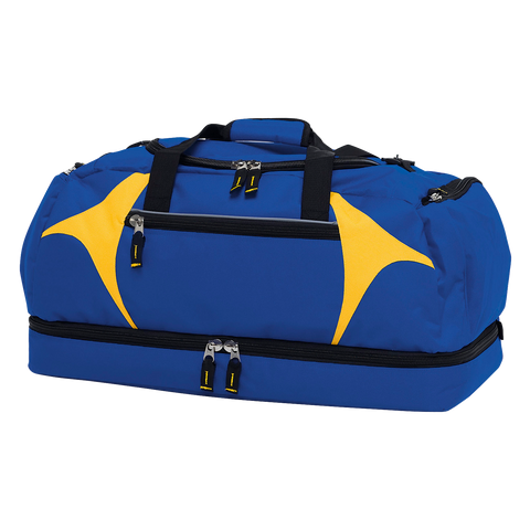 Spliced Zenith Sports Bag - Colours Royal / Gold