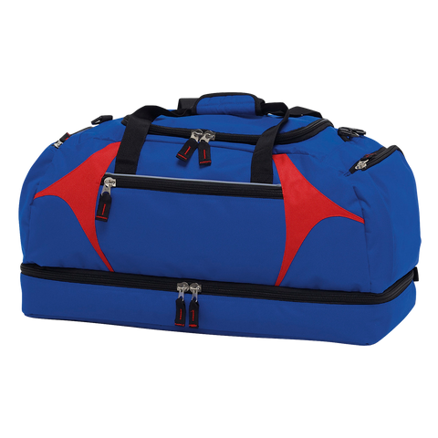 Spliced Zenith Sports Bag - Colours Royal / Red