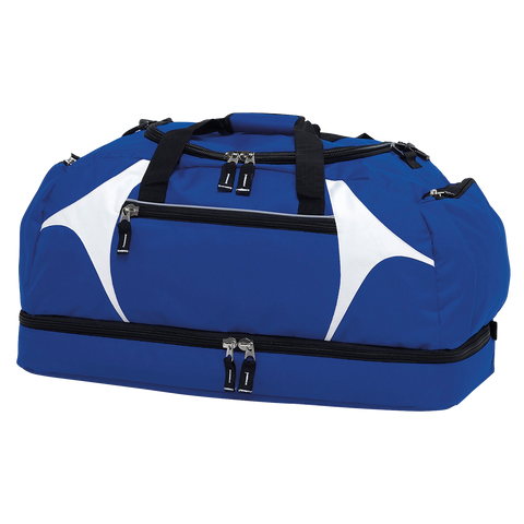 Image of Spliced Zenith Sports Bag - Colours Royal / White