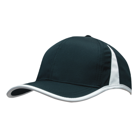Sports Ripstop with Inserts and Trim - Colours Black / White