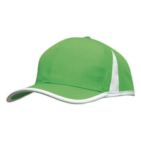 Image of Sports Ripstop with Inserts and Trim, Colours: Bright Green / White