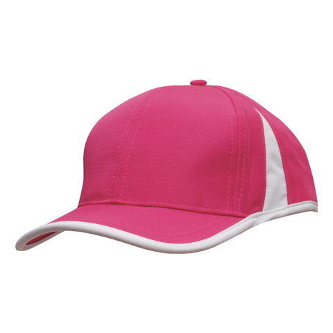 Image of Sports Ripstop with Inserts and Trim, Colours: Hot Pink / White