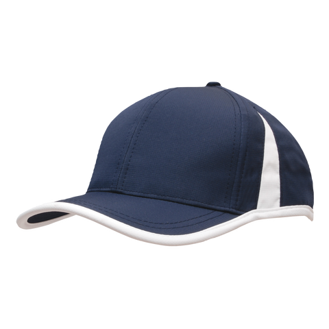 Image of Sports Ripstop with Inserts and Trim, Colours: Navy / White
