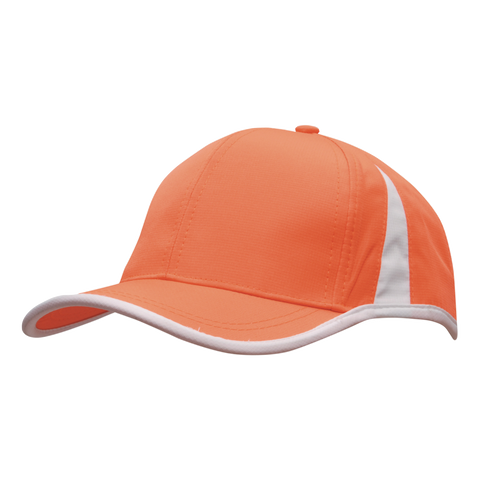 Image of Sports Ripstop with Inserts and Trim, Colours: Orange / White