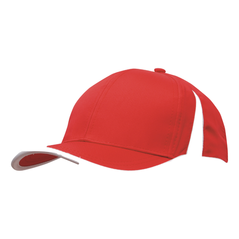 Image of Sports Ripstop with Inserts and Trim, Colours: Red / White