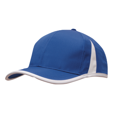 Image of Sports Ripstop with Inserts and Trim, Colours: Royal / White