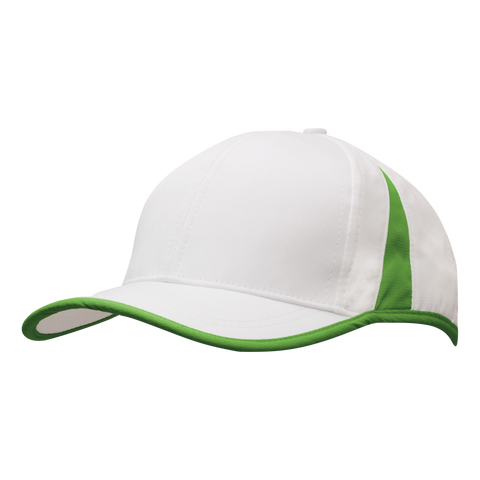 Sports Ripstop with Inserts and Trim, Colours: White / Bright Green