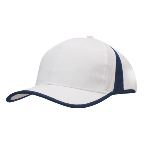 Sports Ripstop with Inserts and Trim, Colours: White / Navy
