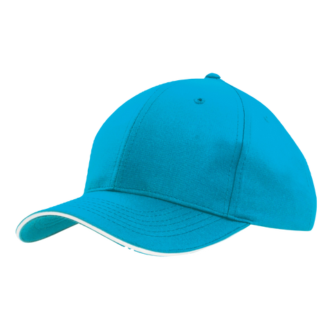Sports Ripstop with Sandwich Trim, Colours: Cyan / White