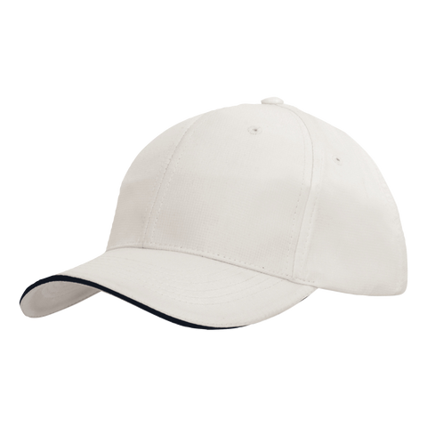 Sports Ripstop with Sandwich Trim, Colours: White / Navy