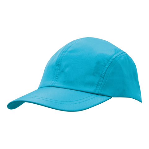 Sports Ripstop with Towelling Sweatband, Colour: Cyan