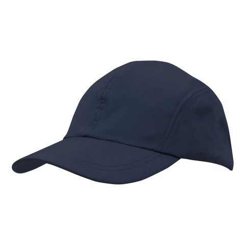 Image of Sports Ripstop with Towelling Sweatband, Colour: Navy