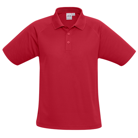 Kids Sprint Polo - Colour Red