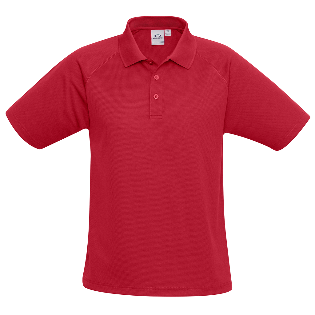 Mens Sprint Polo - Colour Red