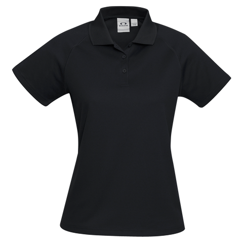 Image of Womens Sprint Polo - Colour Black