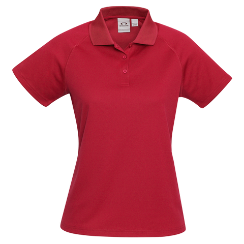 Womens Sprint Polo, Colour: Red