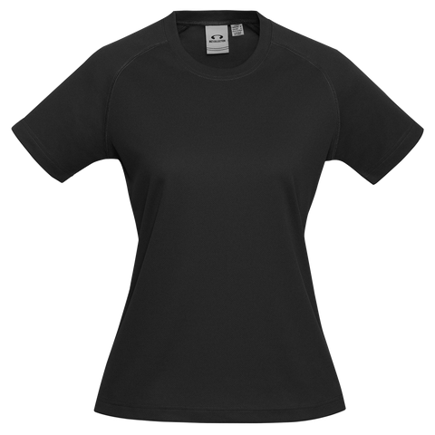 Womens Sprint Tee, Colour: Black