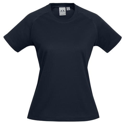 Image of Womens Sprint Tee, Colour: Navy