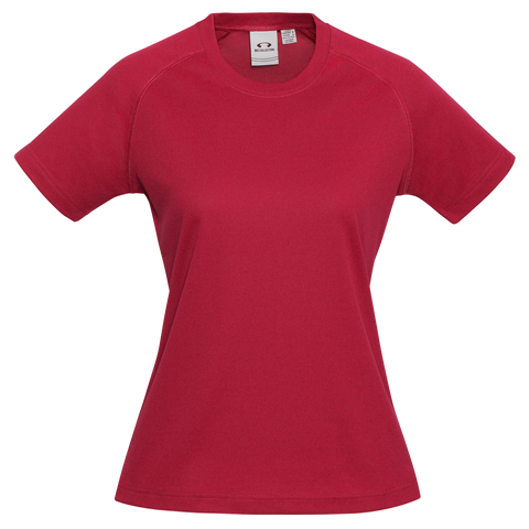 Womens Sprint Tee, Colour: Red