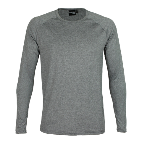 Image of Kids Stadium LS Tee - Colour Grey Marle
