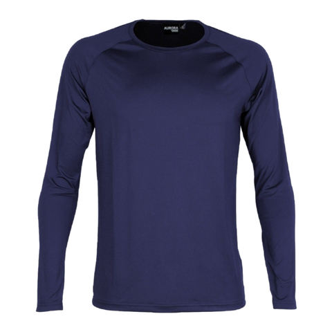 Kids Stadium LS Tee, Colour: Navy