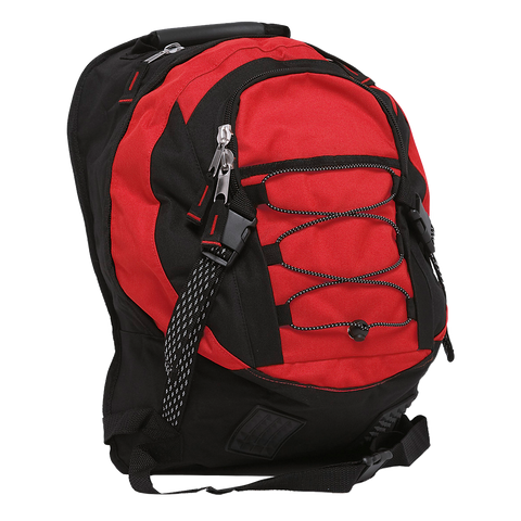 Stealth Backpack, Colours: Red / Black