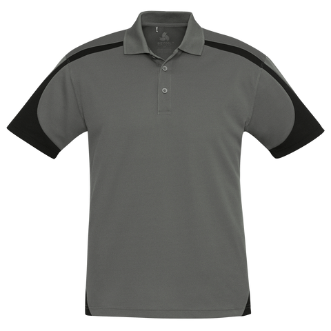Image of Mens Talon Polo, Colours: Ash / Black