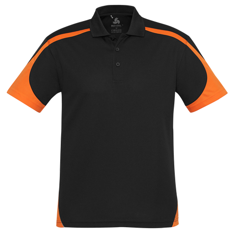 Image of Mens Talon Polo, Colours: Black / Orange