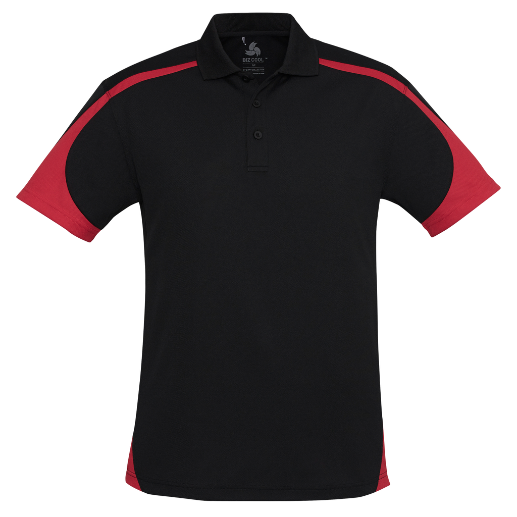 Mens Talon Polo, Colours: Black / Red