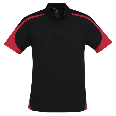 Image of Mens Talon Polo, Colours: Black / Red